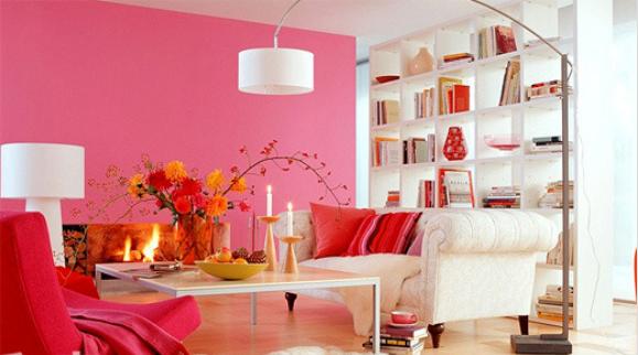 sơn tường màu hồng đậm đẹp