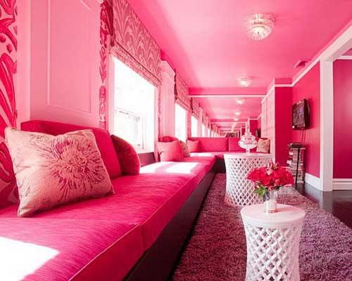 Sơn tường màu hồng đẹp