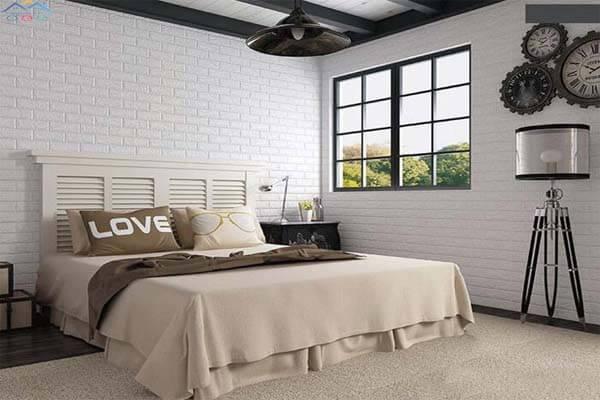Xốp dán trang trí cho phòng ngủ