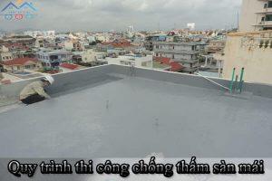 Quy trình thi công chống thấm sàn mái bằng vật liệu FOSMIX FLEX 250